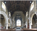 TF0607 : St Michael & All Angels, Uffington: Nave and chancel arch by Bob Harvey