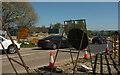 SX8473 : Roadwork queue, Forches Cross by Derek Harper