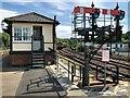 SX0754 : Semaphore Signals and Signal Box at Par by David Robinson