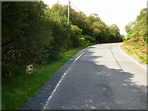 NR9472 : Milepost by the B8000 road by Thomas Nugent