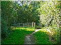 TL2222 : Horse stile on an old lane. Knebworth by Humphrey Bolton