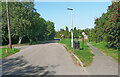 TL2223 : Newton Green and footpath under the motorway, Stevenage by Humphrey Bolton