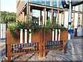 SE2436 : Planters at Kirkstall Forge station by Stephen Craven