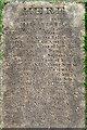 SD8011 : Joseph Newbold's Gravestone, St John's Gardens by David Dixon