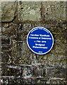 SS9079 : Caroline Wyndham blue plaque, Bridgend by Jaggery