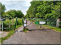 ST4439 : A Frame Barrier at Shapwick Heath NNR by Kevin Pearson