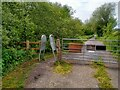 ST4539 : A Frame Barrier at Ham Wall RSPB Reserve by Kevin Pearson