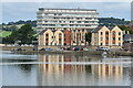 SS5533 : Riverside apartments and civic centre, Barnstaple by David Martin