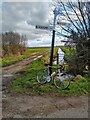 ST4046 : Signpost at crossroads near Westham by Kevin Pearson
