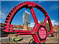 SJ8397 : Beetham Tower and The Grocers' Waterwheel by David Dixon