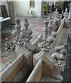 TG2308 : Norwich - St Peter Hungate Museum - Carved pews by Rob Farrow