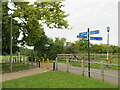 TQ4780 : Paths meet in Thamesmead by Malc McDonald