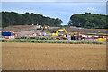 SP3468 : HS2 enabling works near Cubbington, September 2021 (3) by Robin Stott
