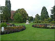 SK1109 : Museum Gardens and the statue of Captain Smith by Richard Law