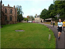 SK1109 : Passing the NE side of Lichfield Cathedral by Richard Law