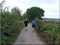 SK1606 : Runners heading for Hopwas Hays Wood by Richard Law