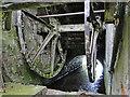TL9374 : Bardwell Watermill, the undershot wheel by Adrian S Pye