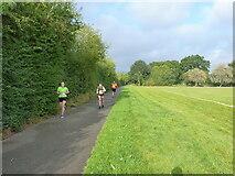 SK1904 : Runners in Wiggington Park by Richard Law