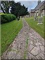SO4101 : Churchyard path, Gwernesney, Monmouthshire by Jaggery