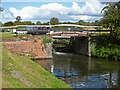 SO8660 : Droitwich Barge Canal - bridge No. 5A and lock No. 7 by Chris Allen