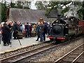 SH6038 : Presentation at Minffordd station by Richard Hoare