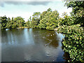 SE0810 : Former mill pond at New Bridge, Meltham by Humphrey Bolton