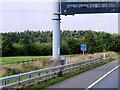 NY3662 : M6 Motorway at Driver Location A498.8 by David Dixon