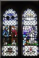SO5929 : Stained glass window in Fawley Chapel by Philip Halling