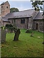 ST4599 : Wolvesnewton church and churchyard by Jaggery
