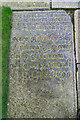 SJ7586 : Grave Stone (1658 and 1699) , The Wives of Peter Clark, St Mary The Virgin, Bowdon by Brian Deegan