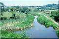 SJ9854 : North of last bridge, Caldon Canal, Leek Branch, 1978 by Robin Webster