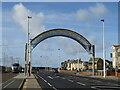 SD3031 : Welcome arch, Starr Gate, Blackpool by Malc McDonald