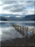 NY2622 : View South across Derwent water from the side of Friars Crag. by Paul Allison