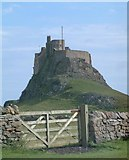 NU1341 : The castle on Lindisfarne by Gary Rogers