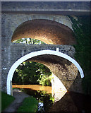 SD9050 : East Marton double-arched bridge by Andy Stephenson