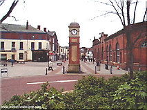 SJ9499 : Clock, Market Street, Ashton under Lyne by Martin Clark