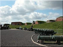 SU6007 : The Parade Ground inside Fort Nelson by Martyn Pattison