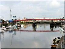 TQ0202 : Bridge across to Industrial area at Littlehampton by Pam Brophy