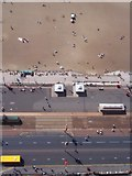 SD3036 : Blackpool promenade from above by Mike Hartley