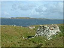 HU1757 : Ancient Water Mills at Huxter, Sandness, Shetland by David Medcalf