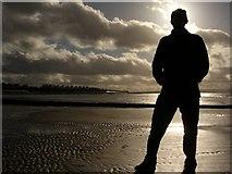 ST3049 : Silhouette at Burnham on Sea beach by Geoff Marshall