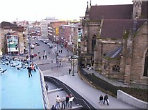 SP0786 : View south from the Bullring, Birmingham by Tom Pullman