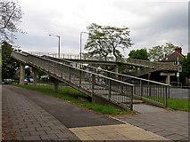 TQ1979 : Pedestrian Bridge over the A406 (T) by Pam Brophy