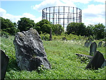 TQ2282 : An unknown Standing Stone in Kensal Green Cemetery? by Adam Guy