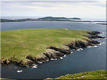 HU3611 : Garths Ness from Fitful Head by Lis Burke
