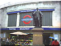 TQ2771 : Edward VII statue outside Tooting Broadway tube station, junction A24 and A217. by Noel Foster