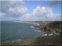 SW6521 : Halzephron Cove and Baulk Head by David Milne
