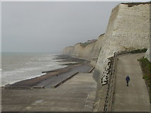 TQ4100 : Coastal Defences at Peacehaven by Peter Home
