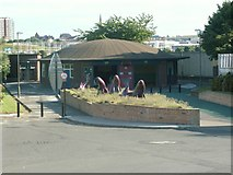 NZ3266 : Cyclist and Pedestrian Tunnel Entrance by Ken Brown