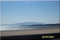 NS2341 : View of Arran from South Beach Ardrossan by paul birrell